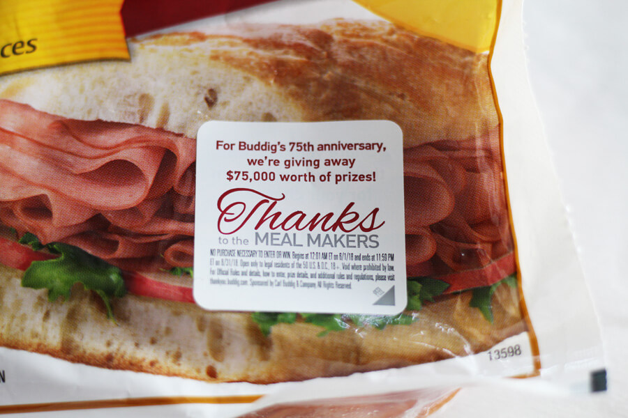 Buddig 75th Anniversary Meal Makers Sweepstakes