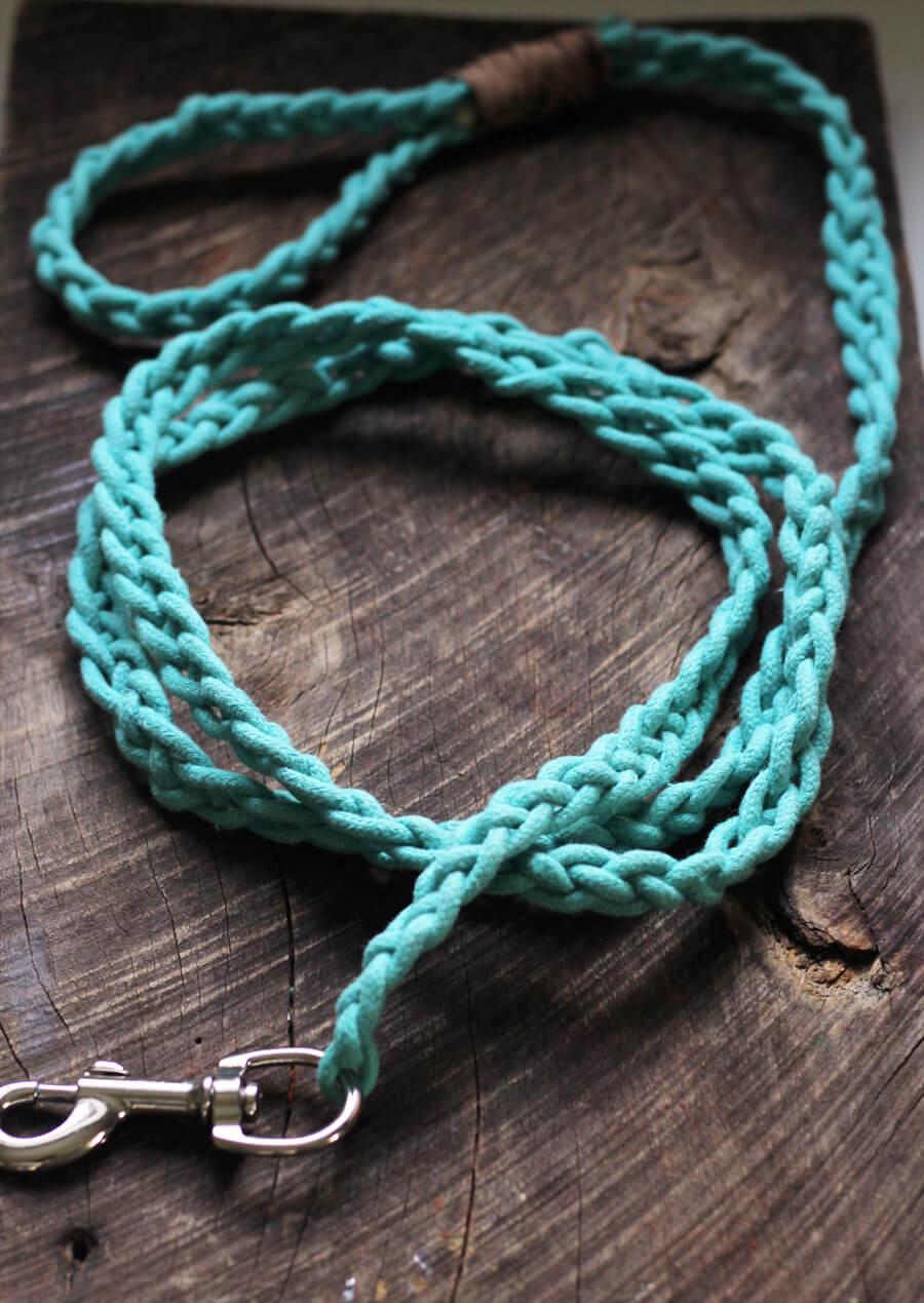 Braided Rope Dog Leash DIY