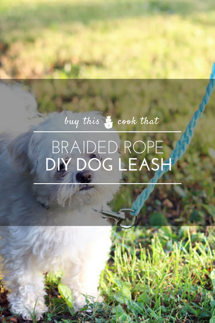 Get our easy how-to guide on making your very own Braided Rope Dog Leash. Your fur babies are going to love it. We will walk you through every step of the way on making this cotton rope dog leash.  #dogleash #DIY #craftsforpets