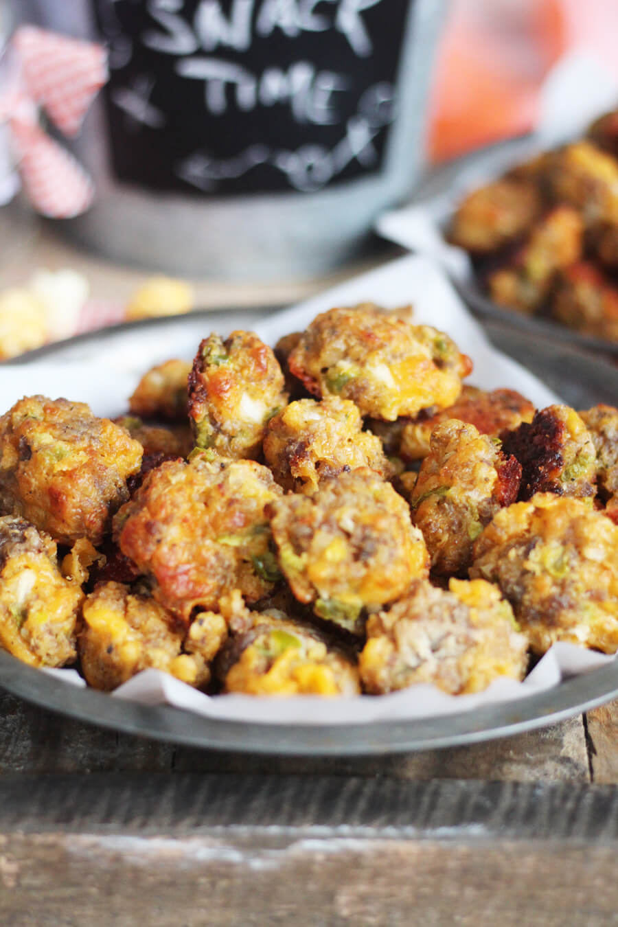 Savory and spicy, this sausage ball recipe will be YOUR new favorite and a hit at all of your parties.