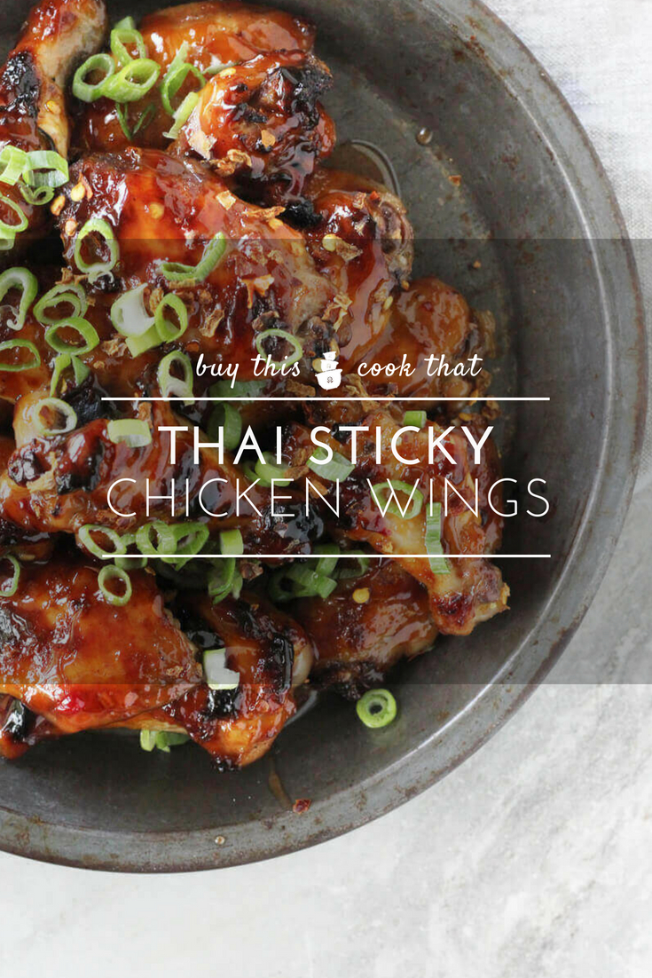 Sweet, tangy and just the right amount of spicy, these tender Thai Sticky Chicken Wings are the ultimate dream come true.  #stickychickenwings #chickenwings #thaichickenwings #thaichicken