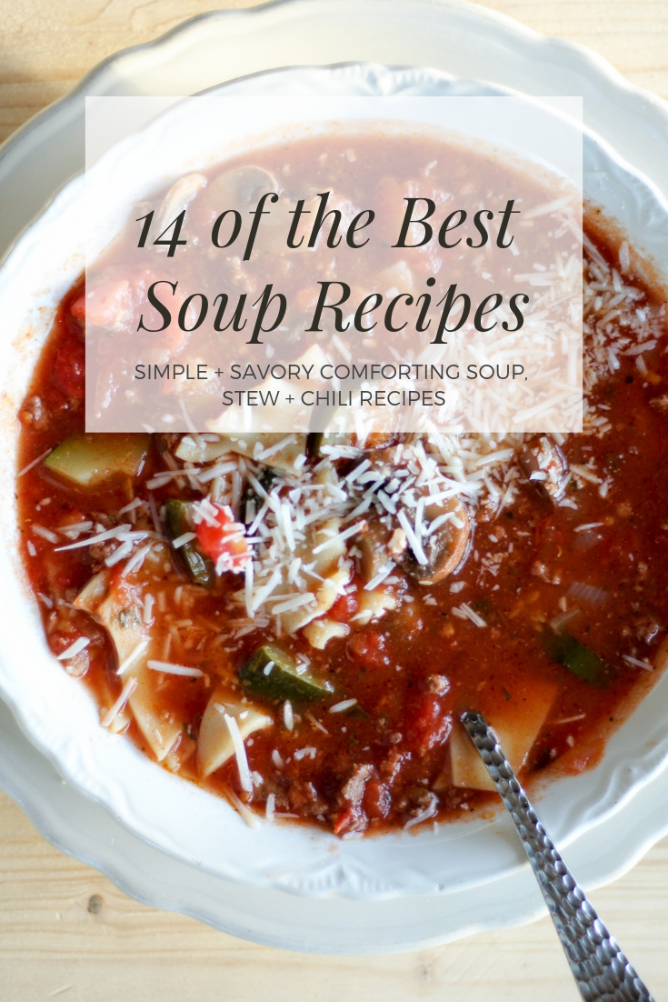 14 of the Best Soup Recipes You've Gotta Try | Buy This Cook ThatSavory soup, stew and chili recipes for you and your family to enjoy.  #soup #stew #chili #bestsouprecipes