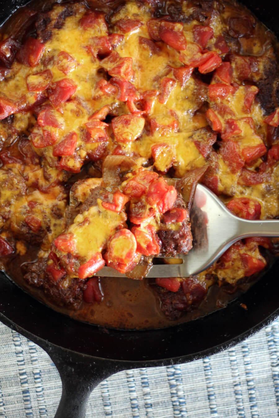 Chili Cheesy Round Steak