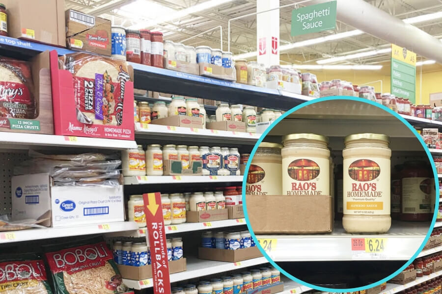Rao's Homemade Sauces are available in the Pasta Aisle of your local Walmart.