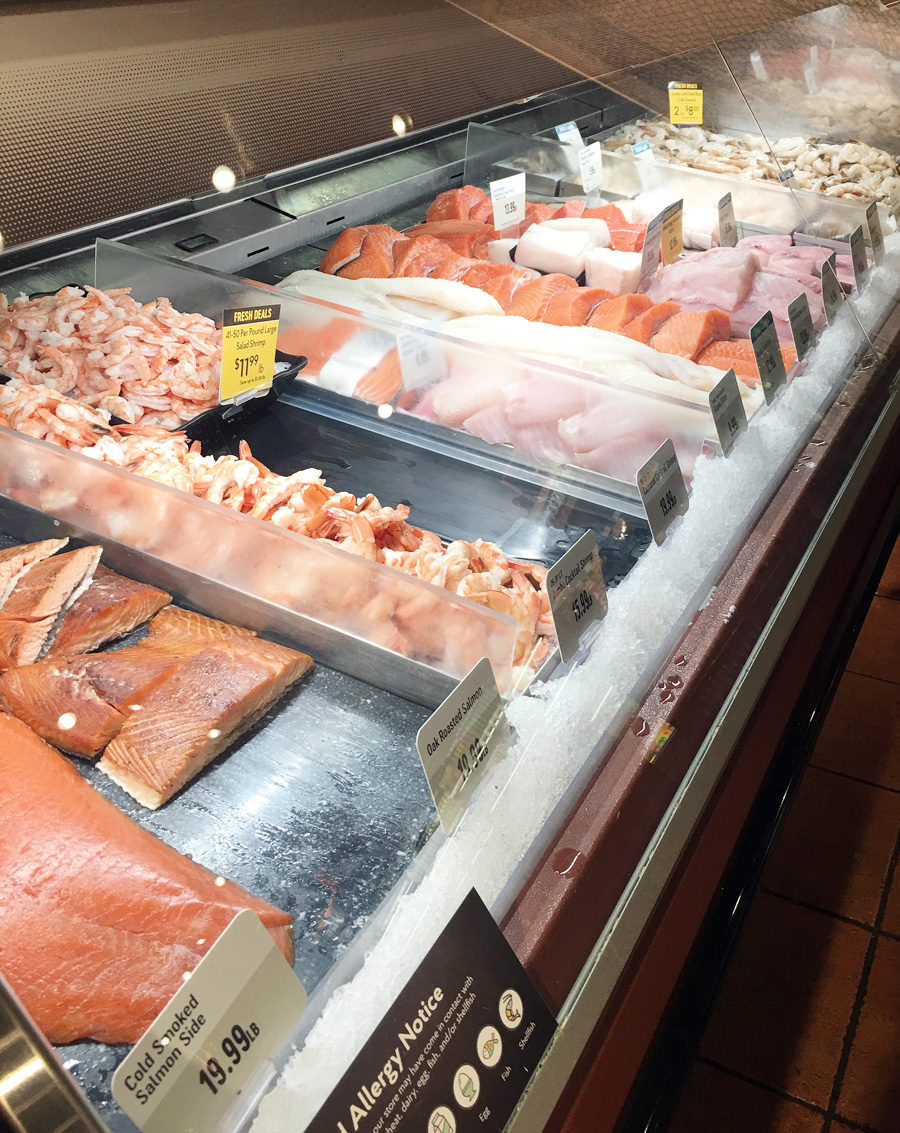 Seafood Department at The Fresh Market grocery store