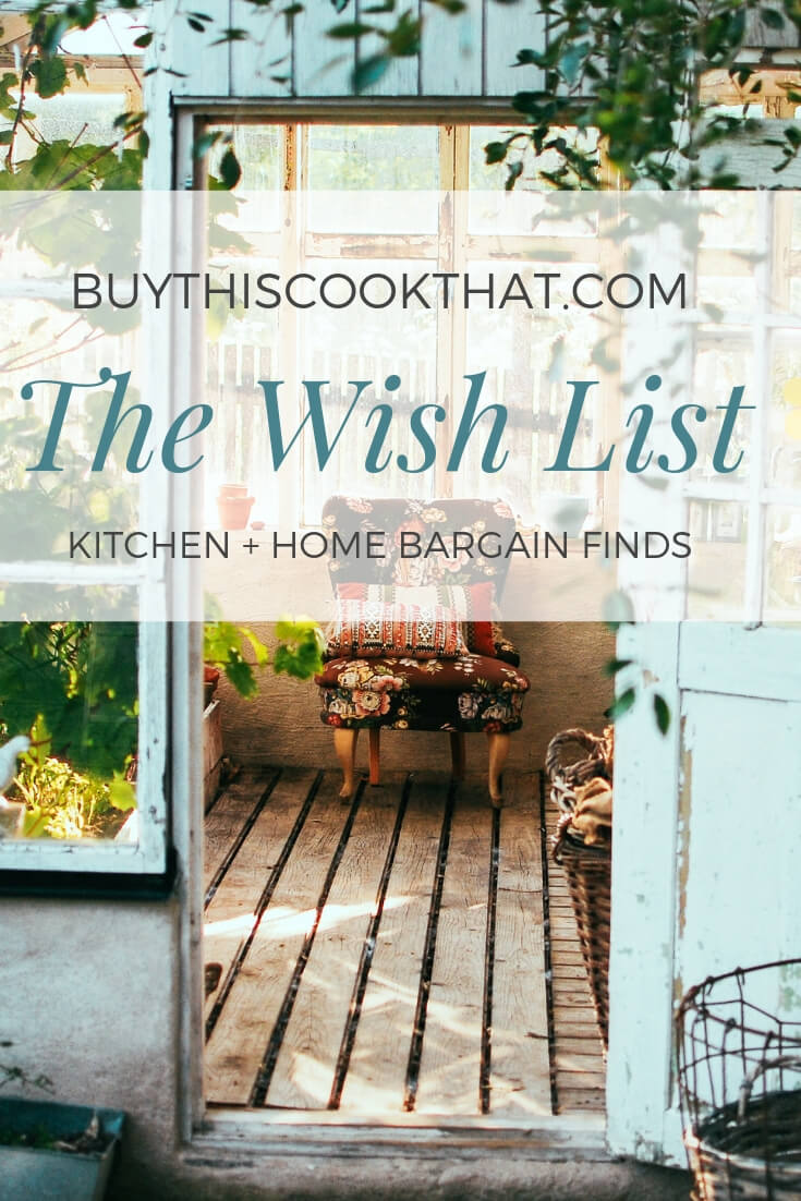 The Wish List | Buy This Cook ThatBrowse the latest kitchen and home finds on The Wish List. Kitchen must haves, home decor, gift ideas and more. #homedecor