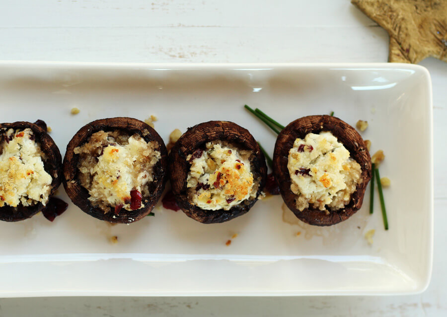 Goat Cheese Stuffed Mushrooms | Buy This Cook That