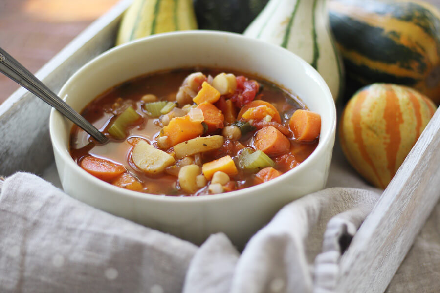 Fall Harvest Homemade Vegetable Soup | Buy This Cook That Savor the flavor of fall vegetables in a hearty homemade vegetable soup.