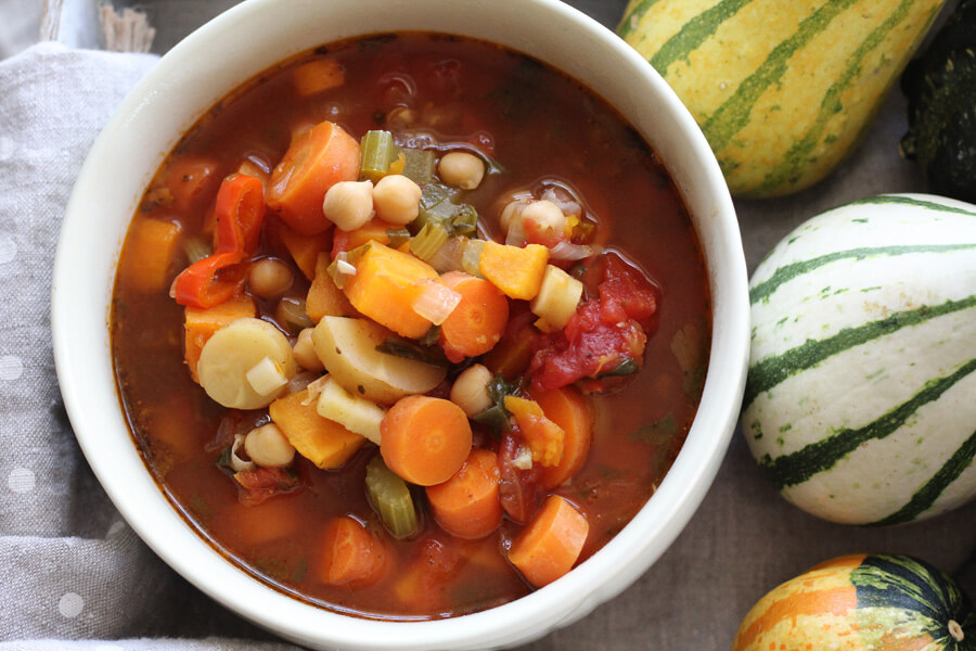 Fall Harvest Homemade Vegetable Soup | Buy This Cook That