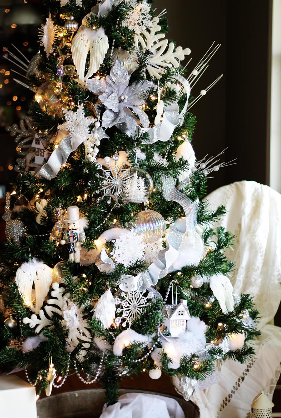 White Christmas Tree Theme.Winter White Christmas Tree Decorating Ideas Buy This Cook