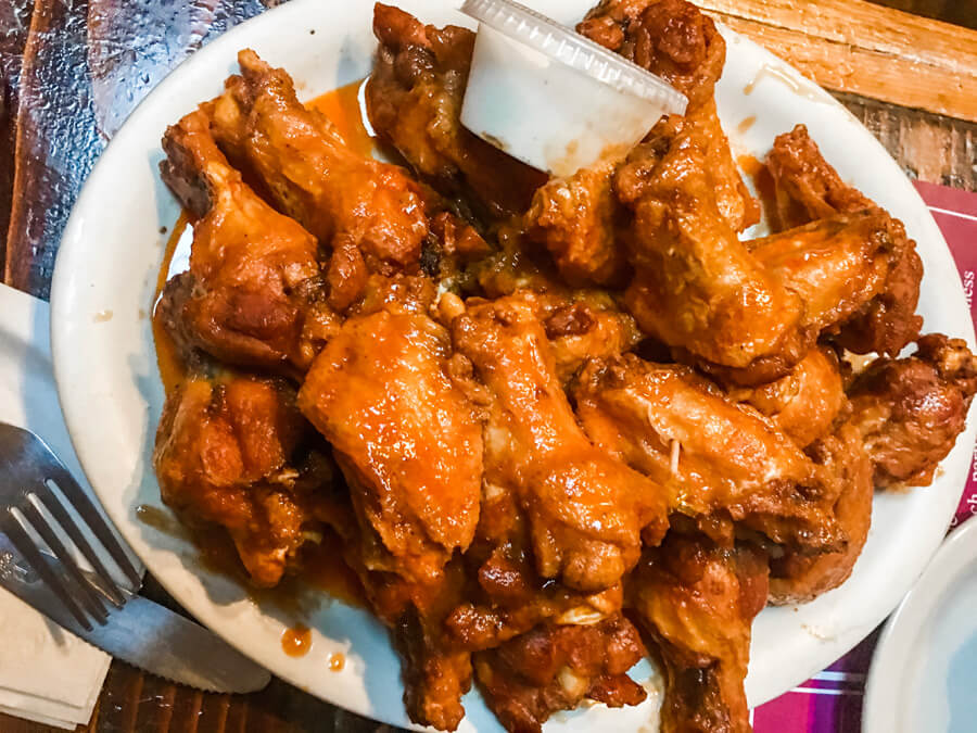 Authentic Buffalo Wings from Gabriel's in Buffalo, New York
