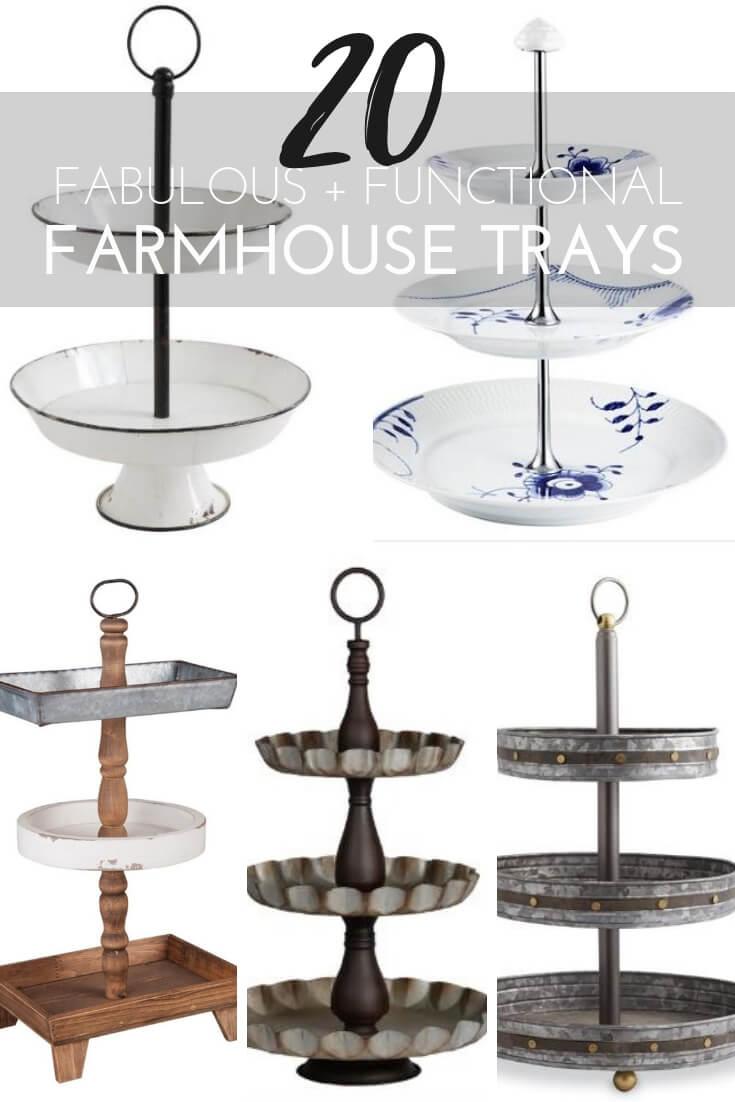 20 Fabulous + Functional Farmhouse Trays #farmhouse #decorativetrays #trays