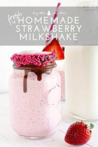 Fresh Homemade Strawberry Milkshake   Buy This Cook That