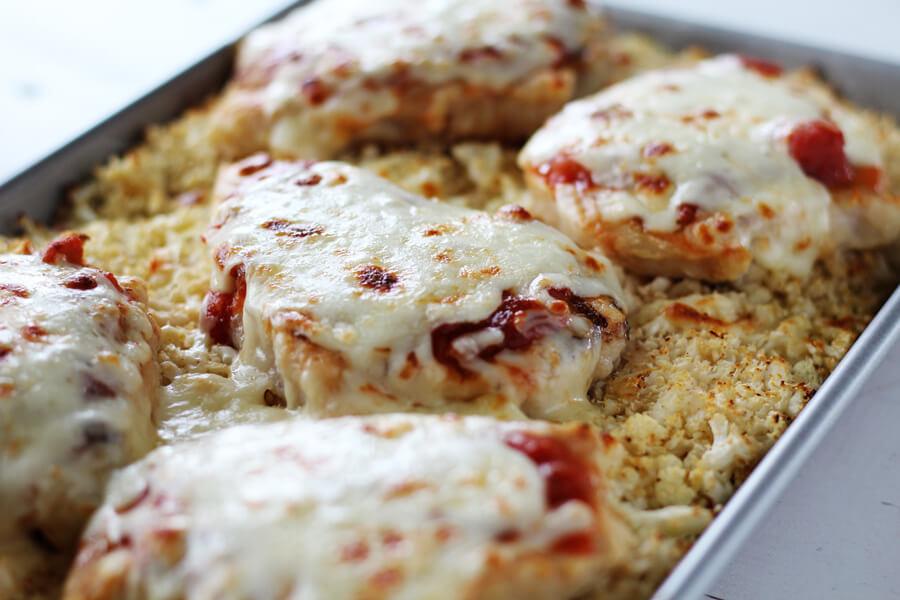 Sheet Pan Salsa Chicken