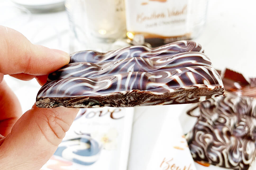 Rich, dark chocolate blended with bourbon and vanilla