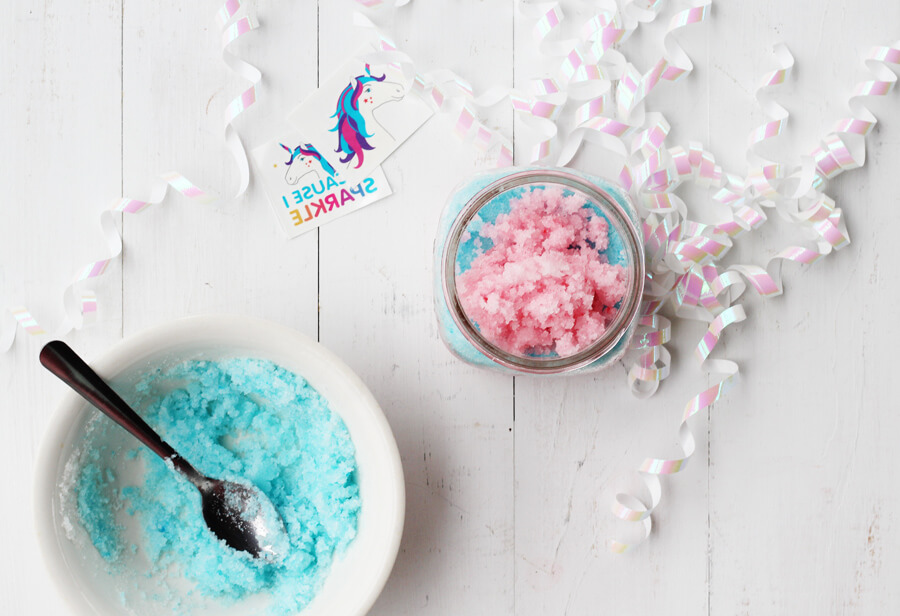 Unicorn Sugar Scrub Recipe