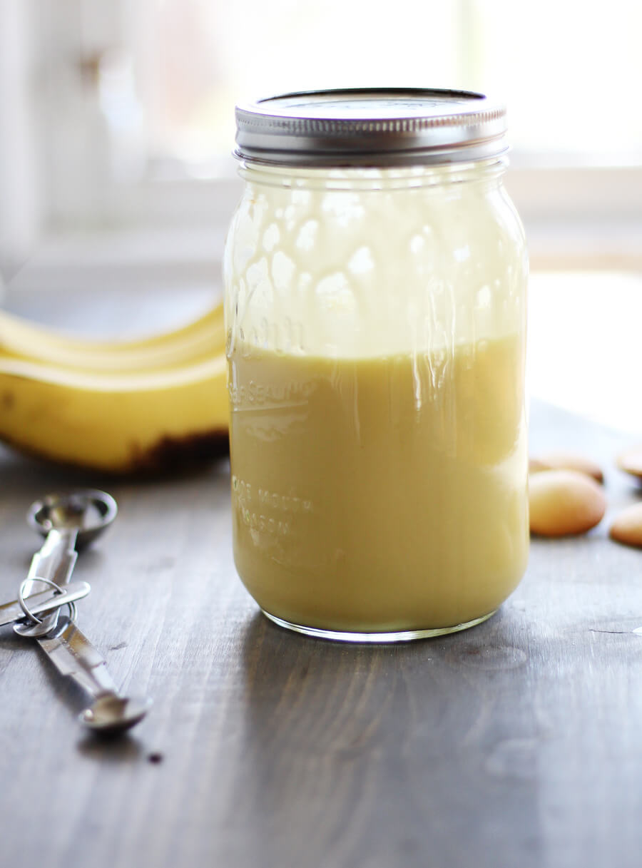 pudding mixed in a mason jar