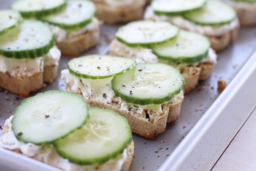 Feta Dill Cucumber Crostini | Buy This Cook That
