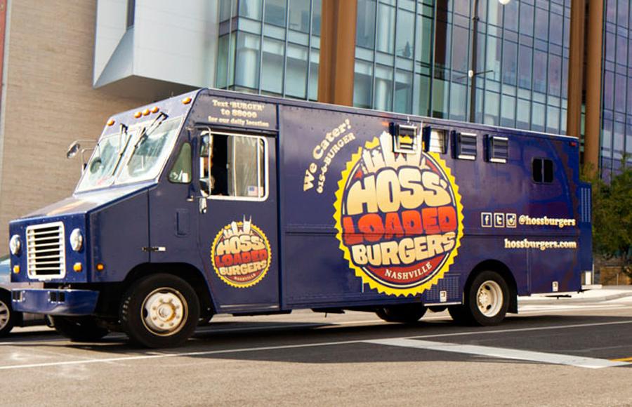 Hoss Loaded Burgers Food Truck, serving Nashville since 2011