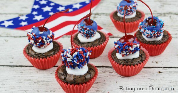 4th of July Bomb Brownie Bites