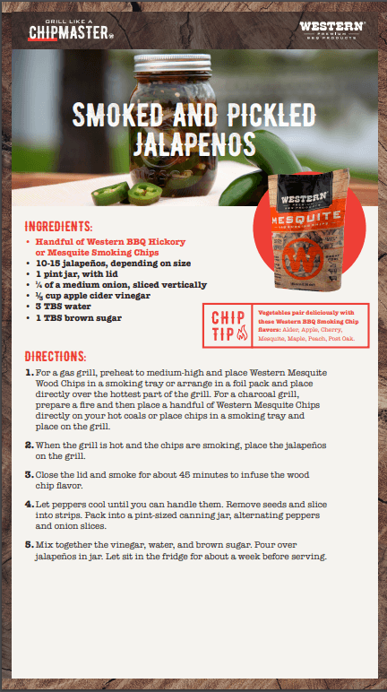 Smoked and Pickled Jalapeno Recipe Card