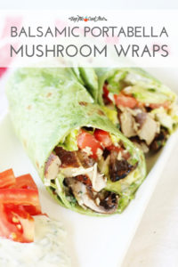 Balsamic Portabella Mushroom Wraps