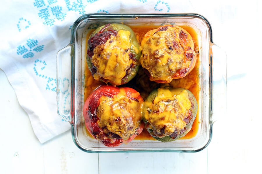 Beef BBQ Stuffed Bell Peppers