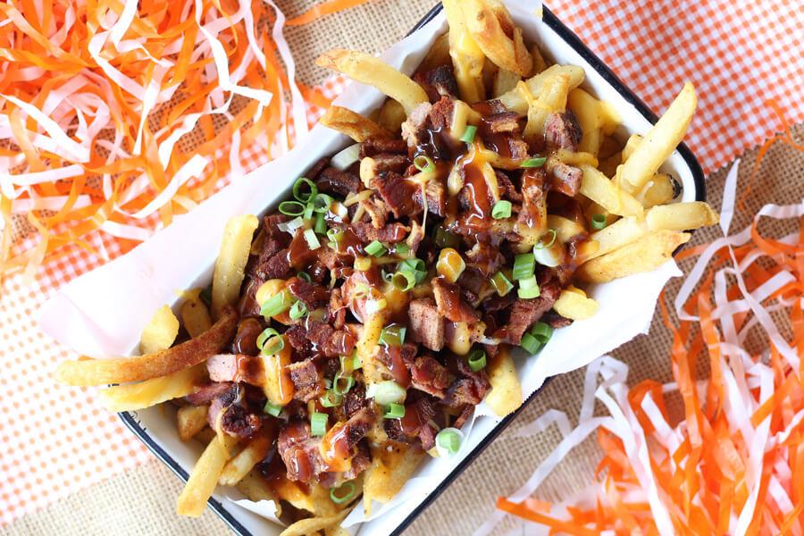Smoked Bacon Brisket Fries