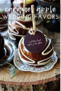 Caramel Apple Edible Wedding Favors